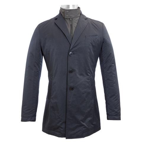 J.W. TABACCHI Navy Removable Front Lining Basic Jacket M8033N IT 48 $296 NWT