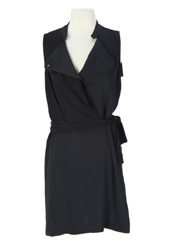 SURFACE TO AIR Women's Black Karma Wrap Dress $390 NEW