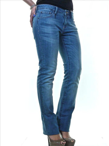 LEROCK Women's Light Blue Stonewashed Flared Denim Jeans NEW