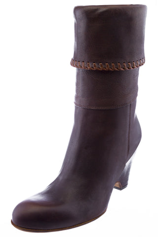Levi's Women's Brina Casual Brown Leather High Heel Boots Made in Italy NEW