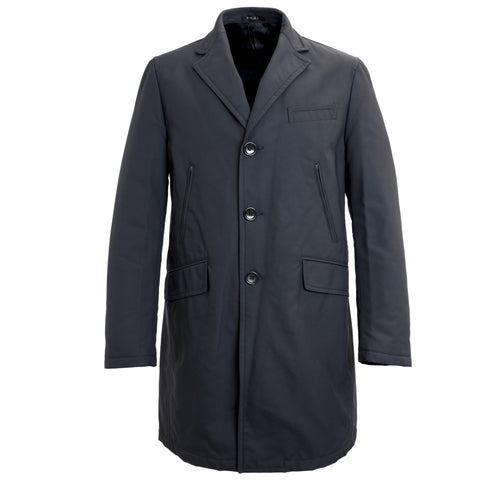 MANUEL RITZ Navy Blue Romovable Lining Long Coat 113C4187X $514 NWT