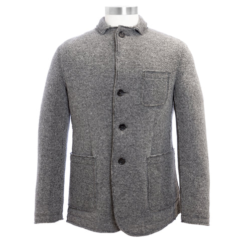 MANUEL RITZ Hthr Gray Wool Blend Single Breasted Jacket 113G8500 $435 NWT