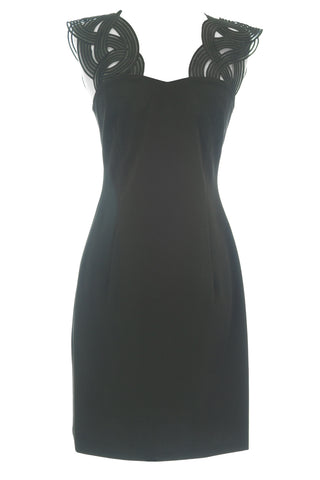 ANNE LEMAN Women's Black Intertwined Strap Narcissa Dress SP91DR8 $575 NEW