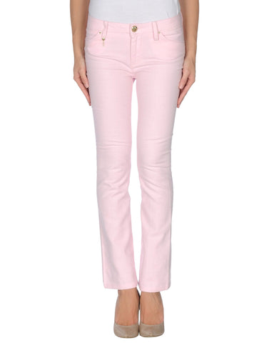 LEROCK Women's Light Pink Skinny Fit Flared Cropped Pants NEW