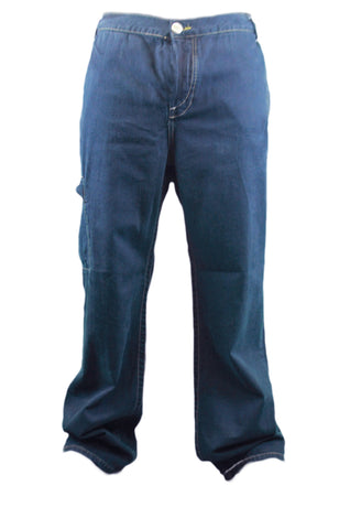 CUSTO BARCELONA Men's Peter Navy Denim Carpenter Jeans 697707 Sz 37 $209 NWT