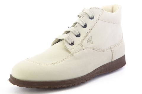 Hogan by TOD'S Womens Polacco Traditional Mid Lace-Up Shoes Off-White