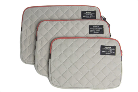 ECOALF Dark Sand MacBook Air/Pro Zip Around Closure Quilted Case $99 NWT