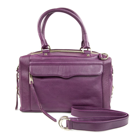 REBECCA MINKOFF Plum MAB Mini Satchel Hand Bag $395 NEW