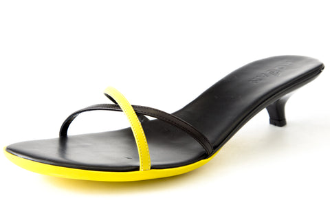 Hogan by TOD'S Slick Crossed Bands Shoes Black/Yellow
