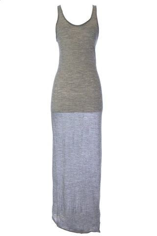 WITH & WESSEL Silver Melange Lightweight Racer Back Tank Dress T1507 $242 NWT