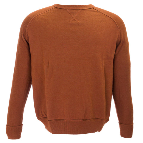 TAILORBYRD Mens Orange Wool Crewneck Sweater MK10 F11-607 $125 NEW