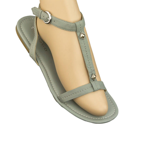 TIGNANELLO Mel Jean T-Strap Studded Leather Sandals Shoes A214773 NEW $59