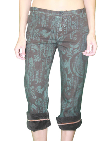 CUSTO BARCELONA Women's King Fu Tolousse Cropped Capris Pants 593061 $194 NWT