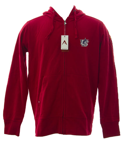 ANTIGUA Men's Dark Red Signature Full Zip Sweatshirt 100304 $53 NEW