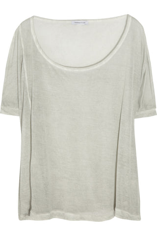 SURFACE TO AIR Women's Vegetal Grey Verso Tee $103 NEW