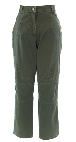 MARINA RINALDI by MaxMara Wemlin Olive Pencil Cut Denim Jeans $345 NWT