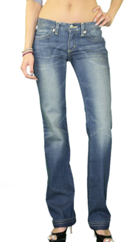 CUSTO BARCELONA Women's Yuri First Stonewashed Flare Jeans 293006 $220 NWT