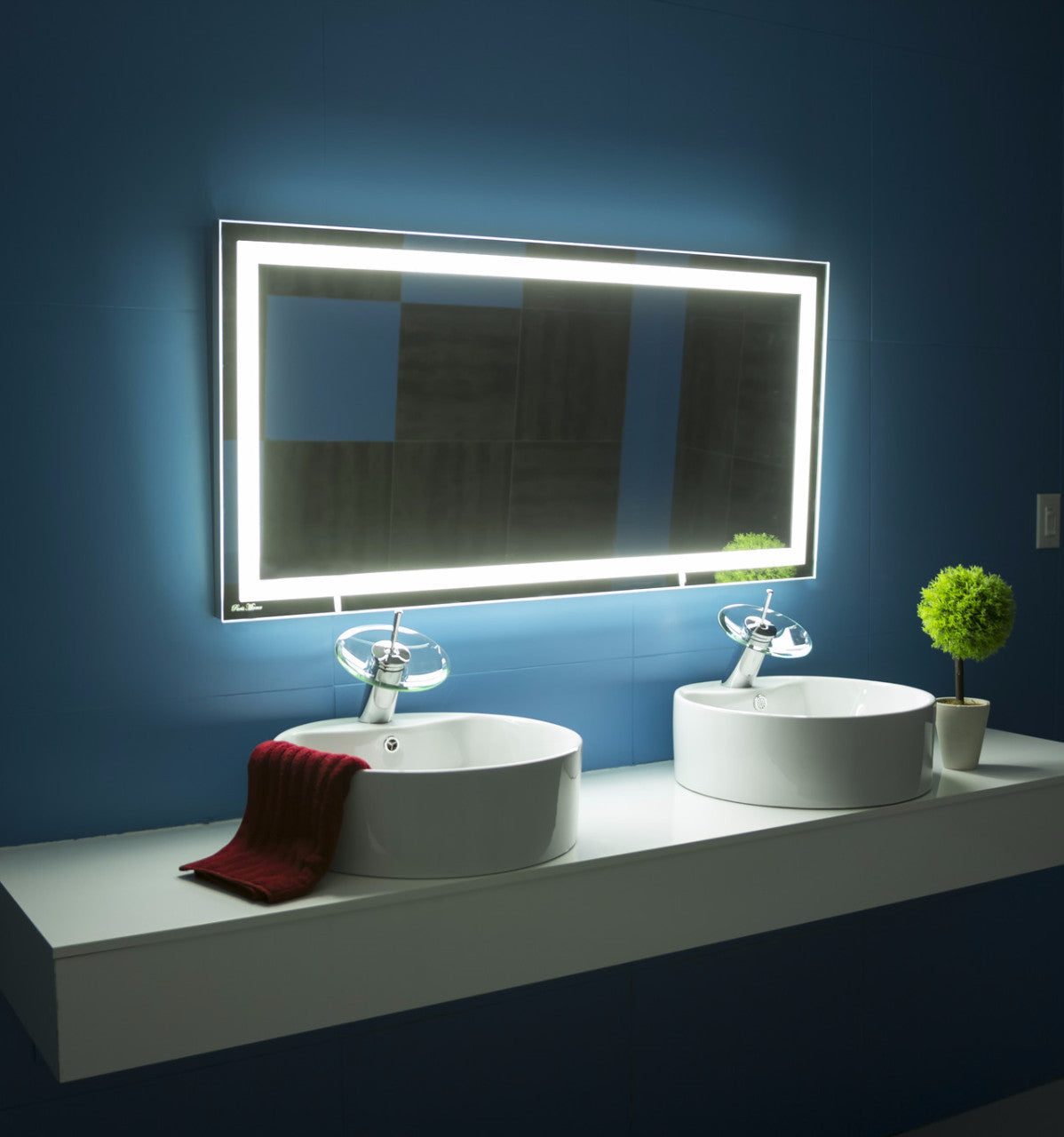 mirror 48 x 24. dimmable lighted mirror harmony 48 x 24 c