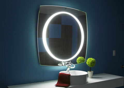 LIGHTED MIRROR HALO 40 X 40 in