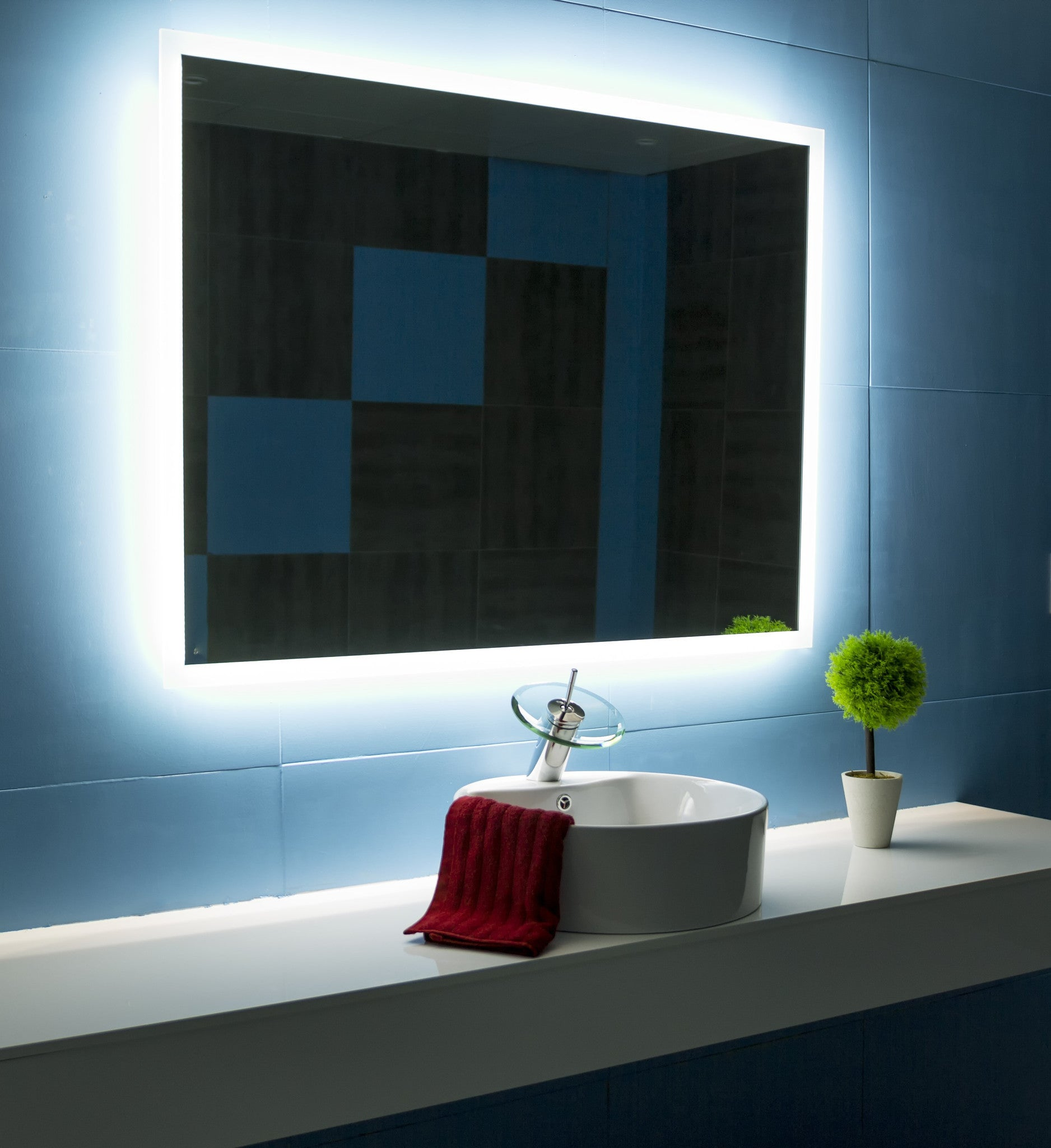 Dimmable Backlit Mirror Rectangle 48 X 36 Ib Mirror