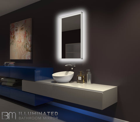 Dimmable Lighted mirror Acrylic 24 x 36