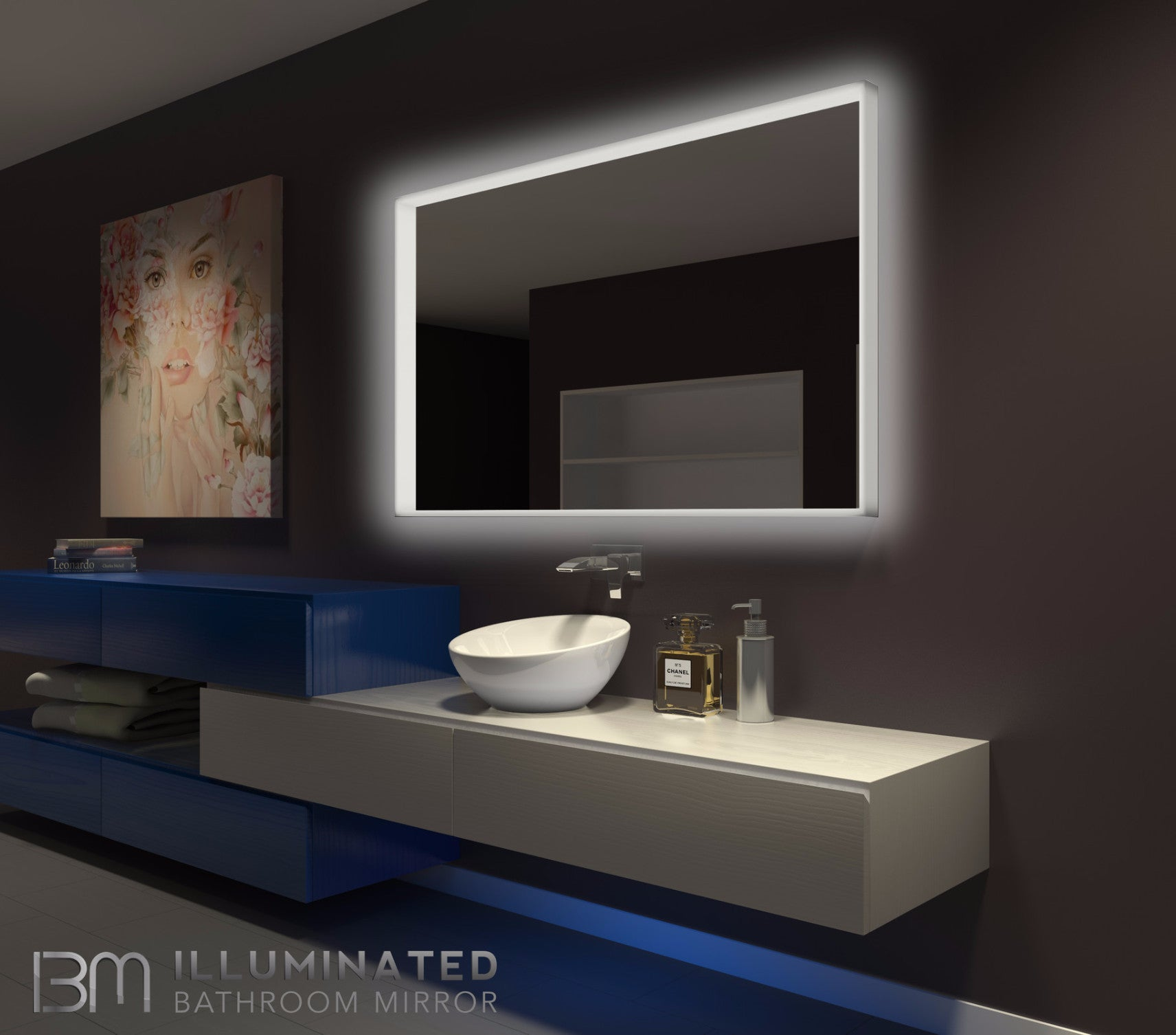 Dimmable Lighted mirror Acrylic 60 x 36