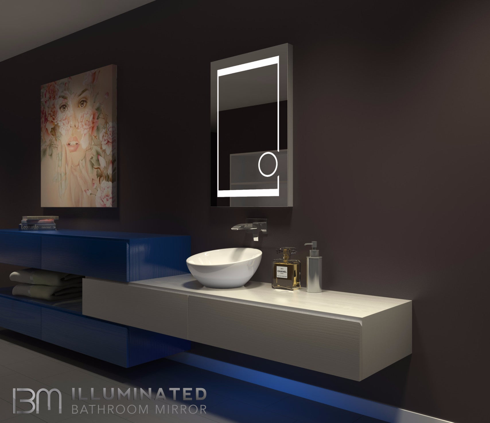 Dimmable Lighted mirror Aurora 24 X 32