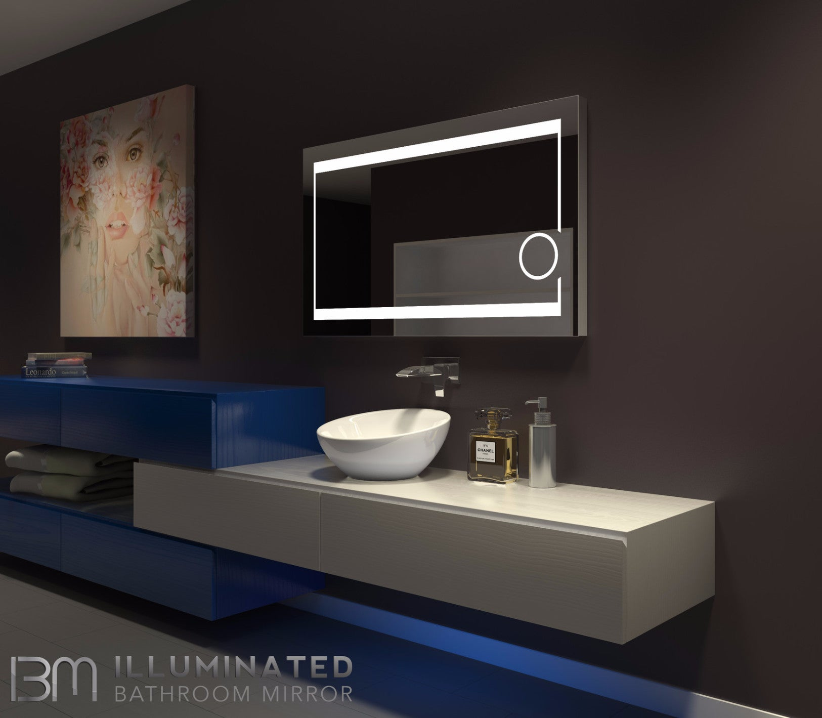 Dimmable Lighted mirror Aurora 48 X 28