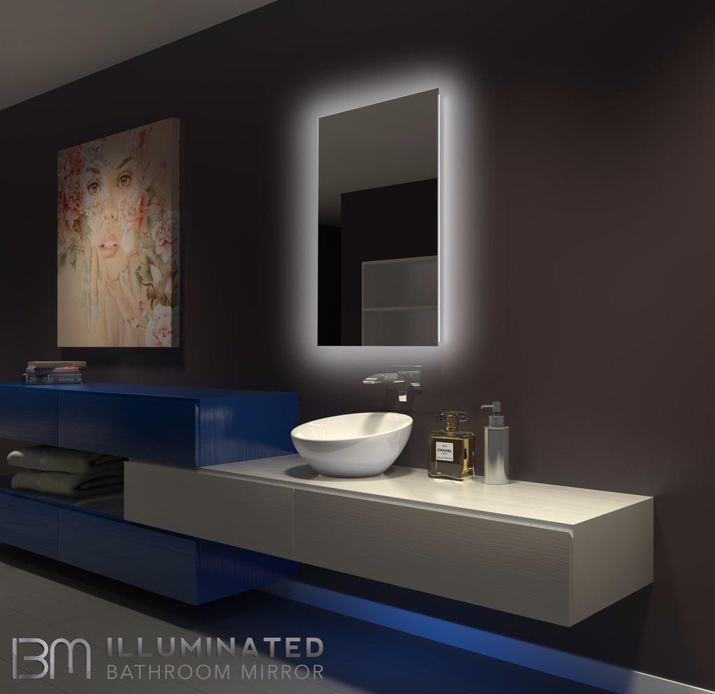 Dimmable Original Backlit Mirror Rectangle 24 X 36 In Ib
