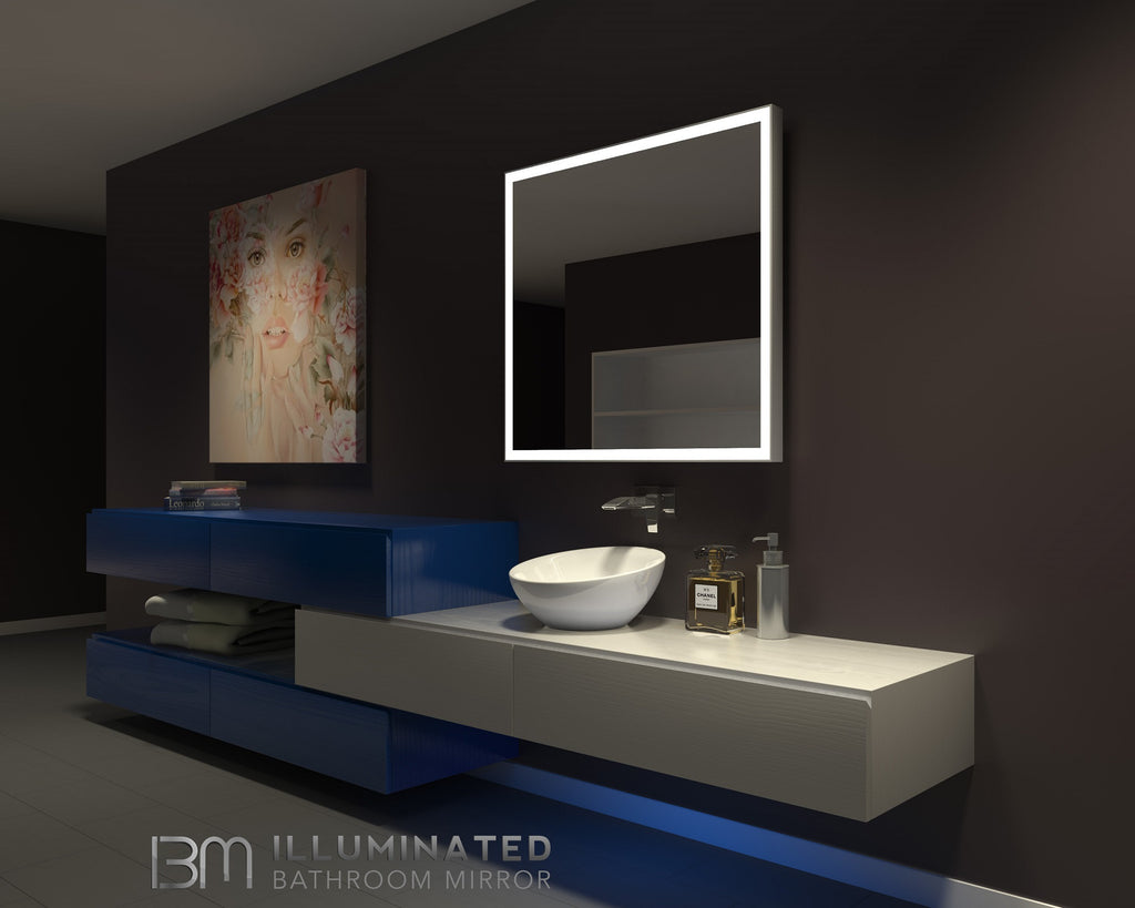 dimmable lighted bathroom mirror galaxy 40 x 36 ib mirror 19095