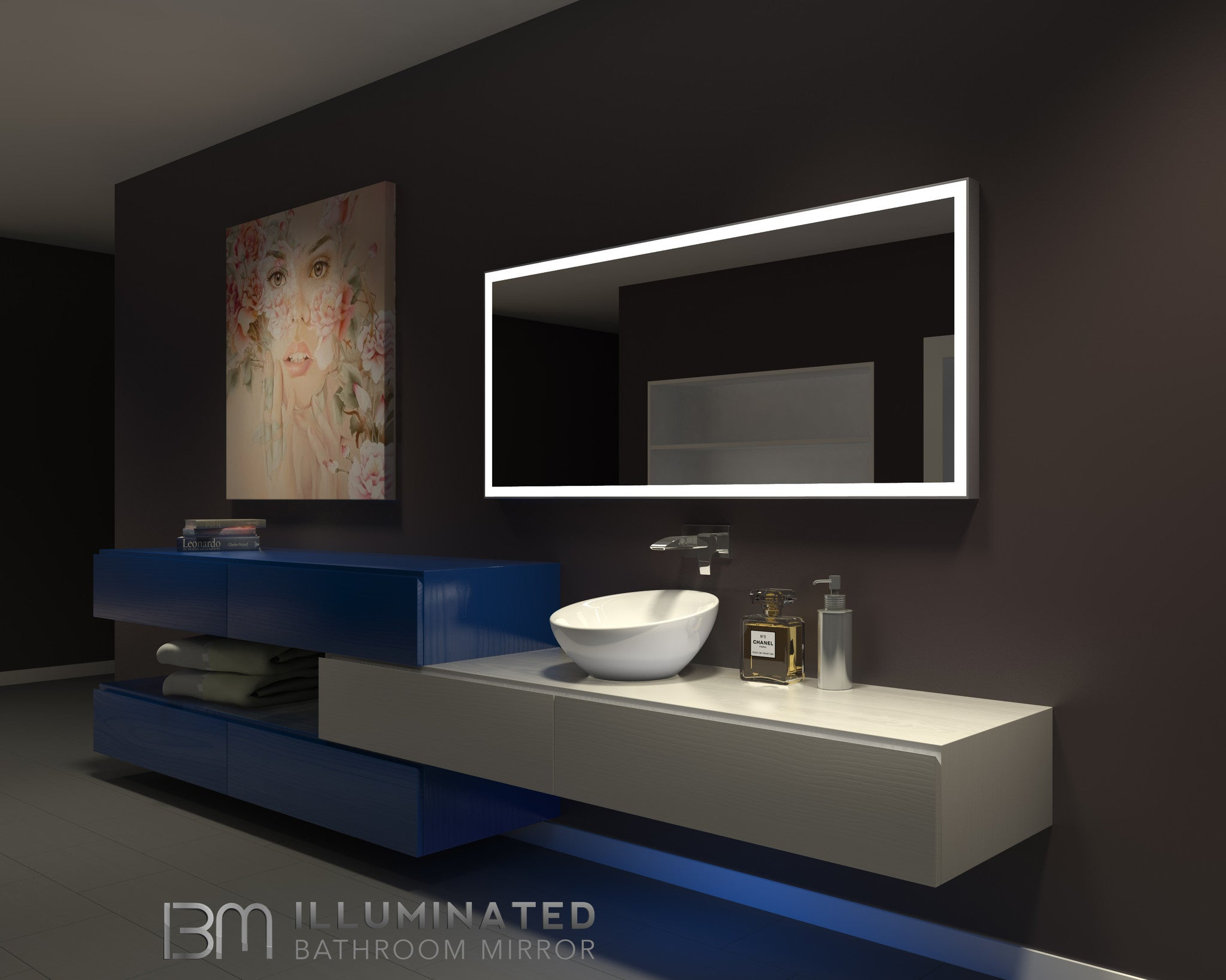 Dimmable Lighted mirror Galaxy 65 X 28