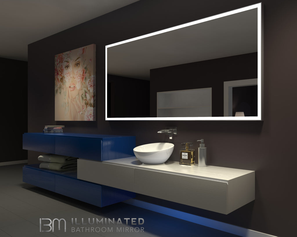 Modern Led Lighted Wall Mounted Vanity Mirror Round Shape: Lighted Cabinets €� Backlitmirror.Com