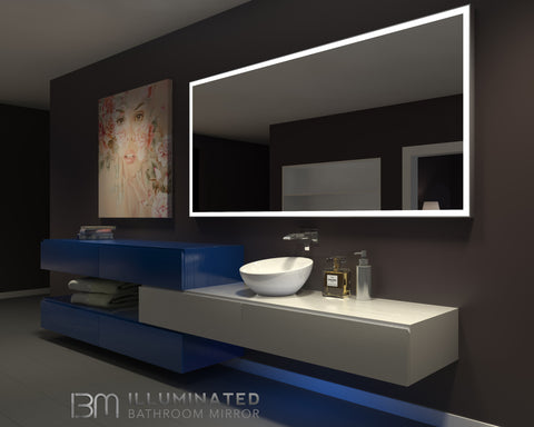 Dimmable Lighted Bathroom mirror Galaxy 85 X 40