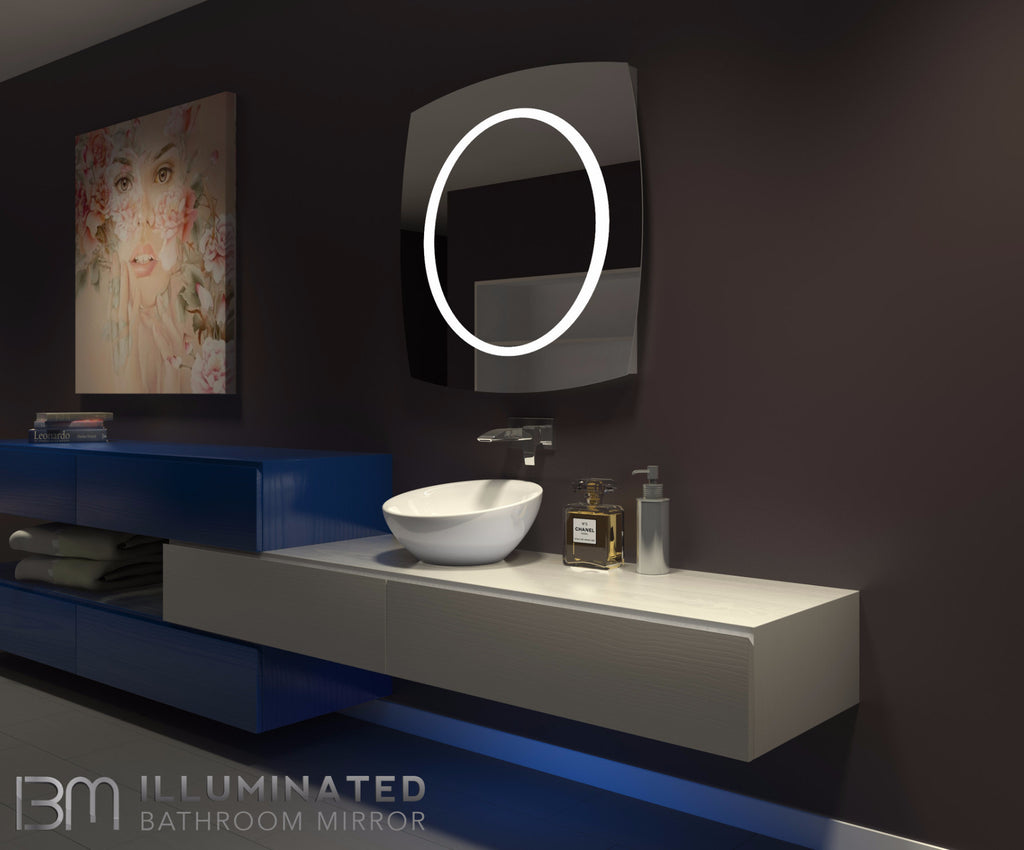 Dimmable Lighted Mirror Halo 40 X 40 Ib Mirror
