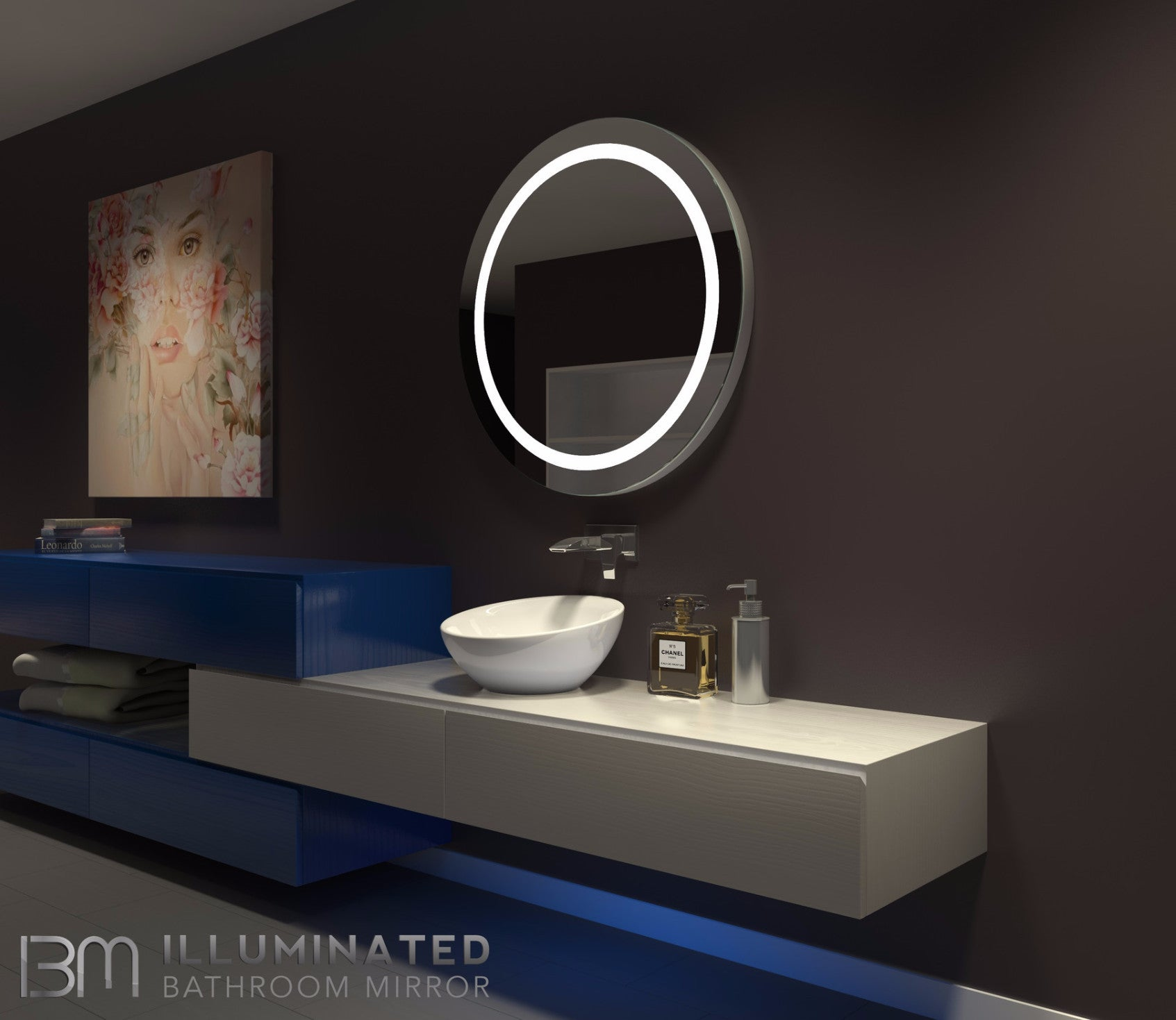 Dimmable Lighted Mirror Harmony 36  X 36