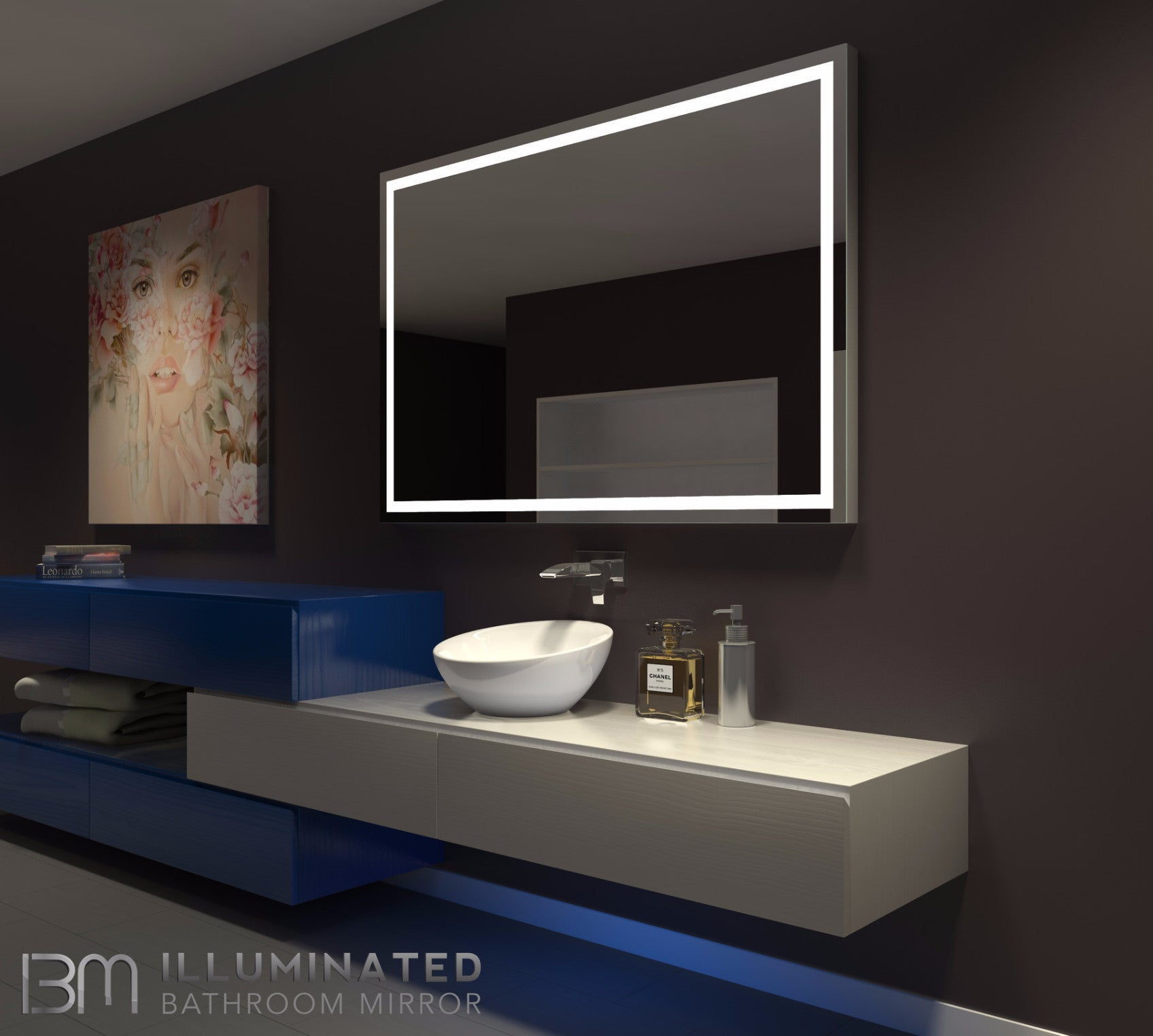 Dimmable lighted mirror harmony 60 x 40 ib mirror dimmable lighted mirror harmony 60 x 40 amipublicfo Image collections