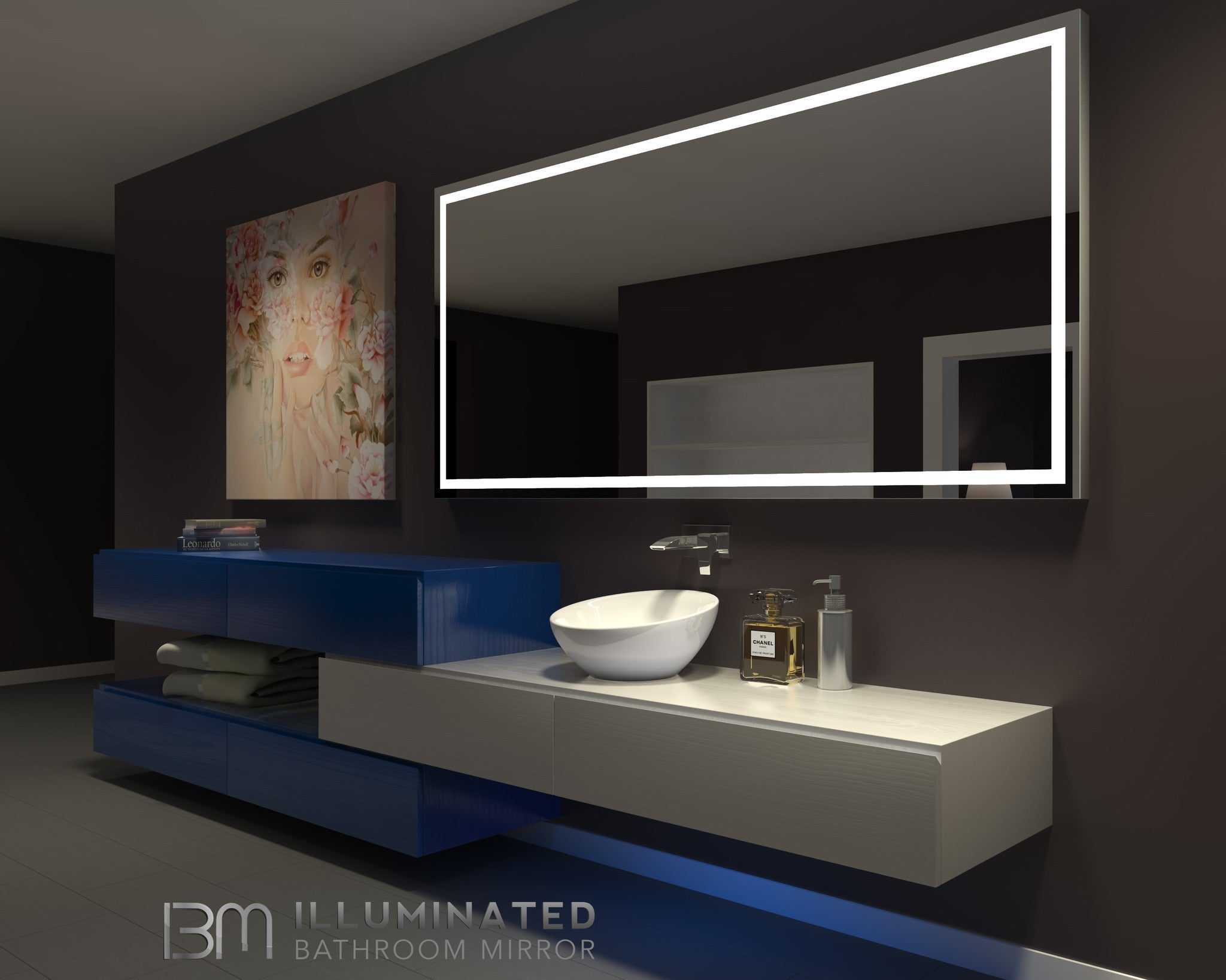 Dimmable Lighted mirror Harmony 85 X 40