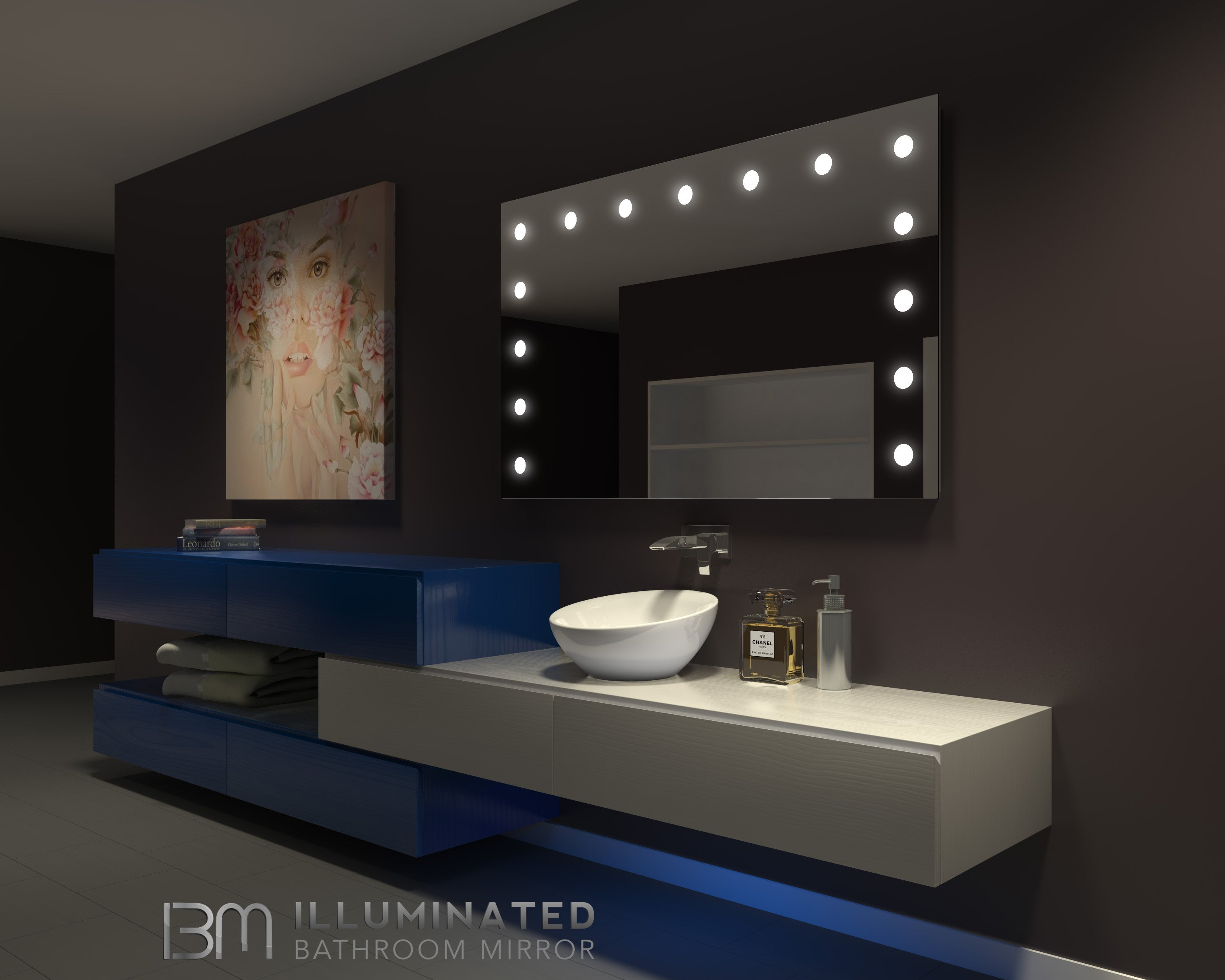 Merveilleux Dimmable Hollywood Mirror 60 X 36