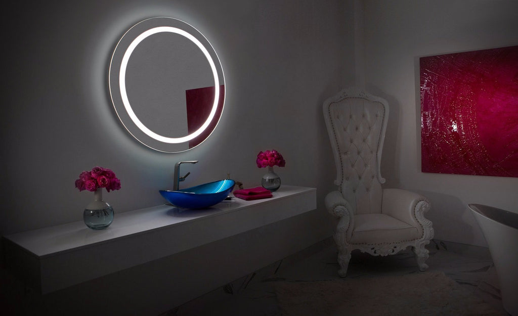 Dimmable Lighted Mirror Harmony 36 X 36 Ib Mirror