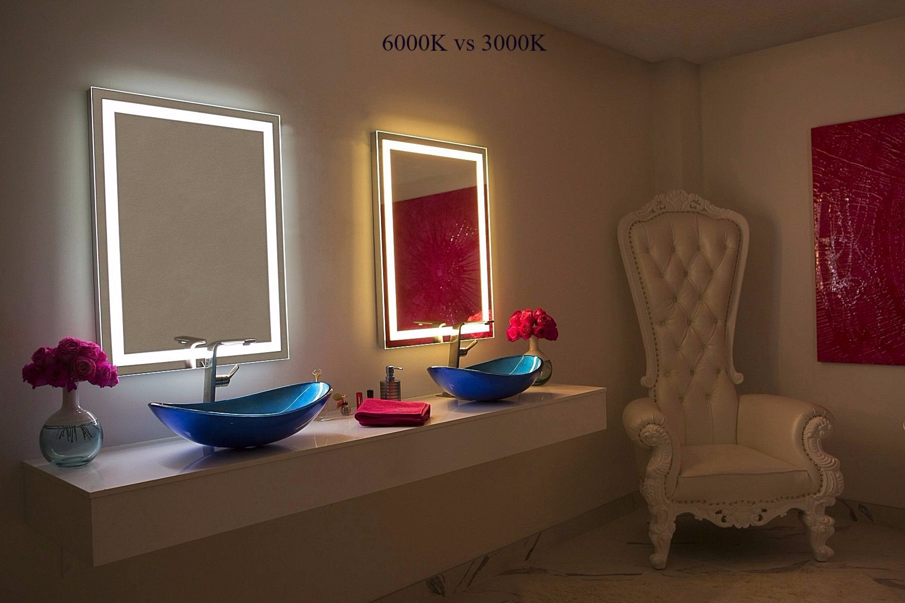 Dimmable Lighted Mirror Harmony  24 X 32