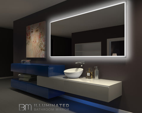 Dimmable Backlit Mirror Rectangle 100 X 45