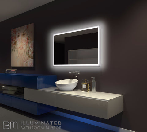 Dimmable Backlit Mirror Rectangle 48 X 28