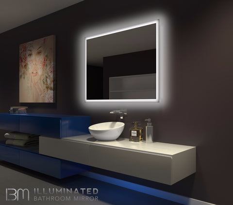 Dimmable Backlit Mirror Rectangle 48 X 36