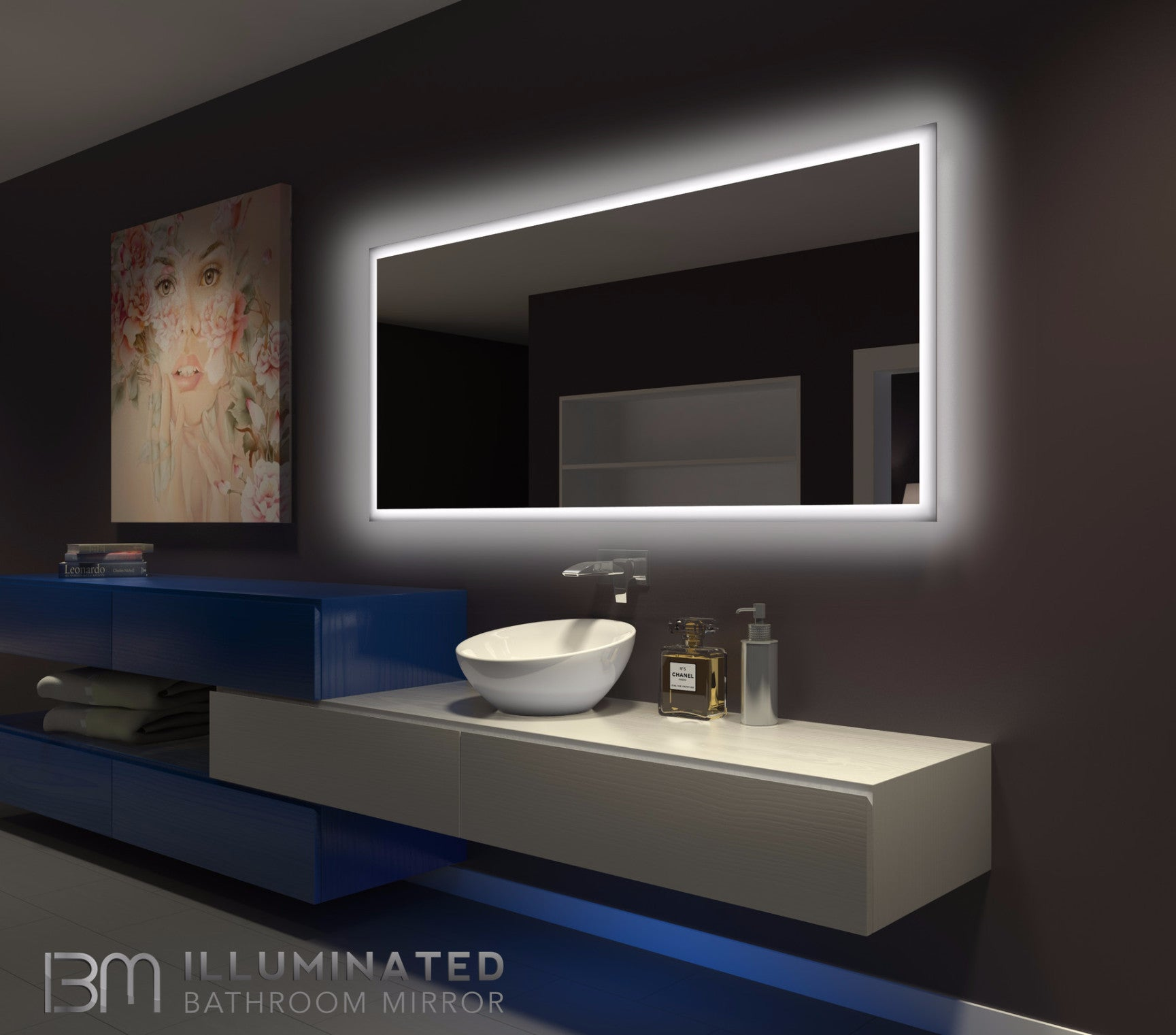 Backlit Bathroom Mirror Rectangle 70 X 32 In Ib Mirror