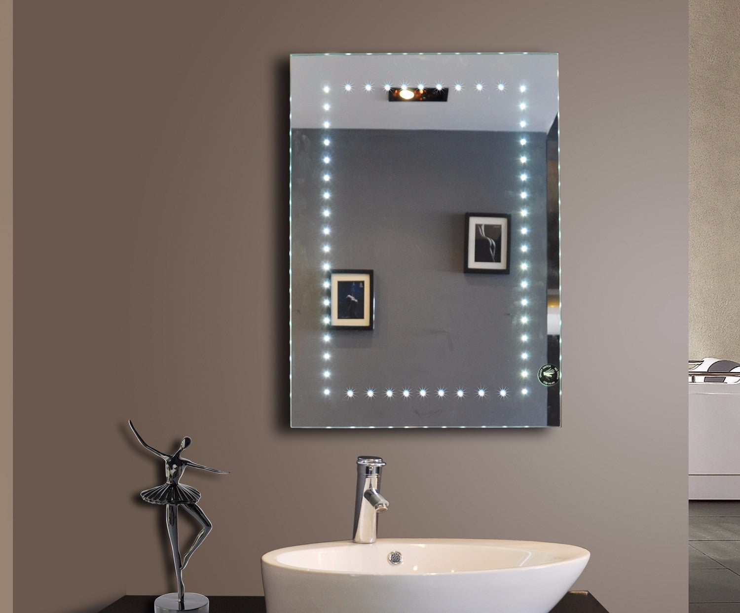 lighted mirror. lighted mirror sparkle 20 x 28