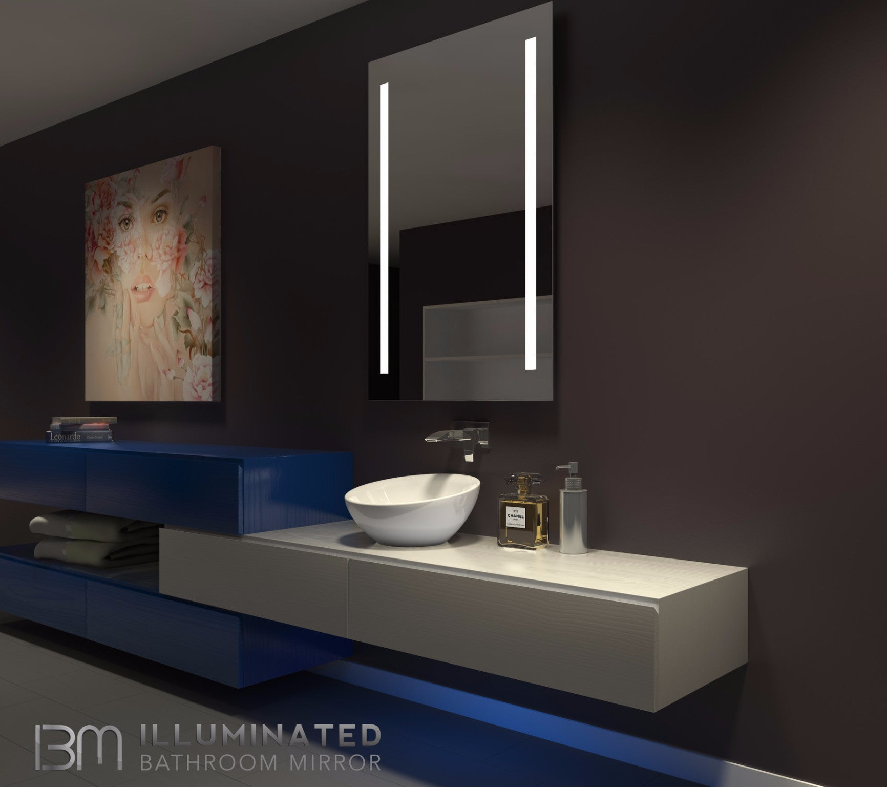 Dimmable Lighted Mirror Verano  32 X 48