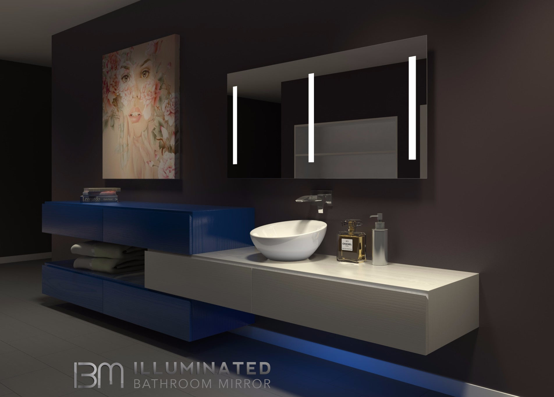 Dimmable Lighted mirror Verano  60 X 35