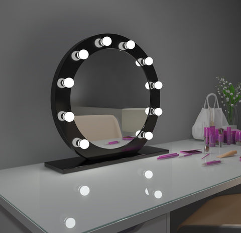 Dimmable Hollywood Mirror Diana 28 in black