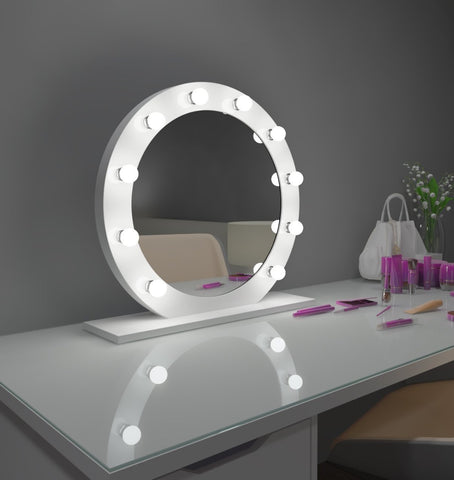 Dimmable Hollywood Mirror Diana 28 in white