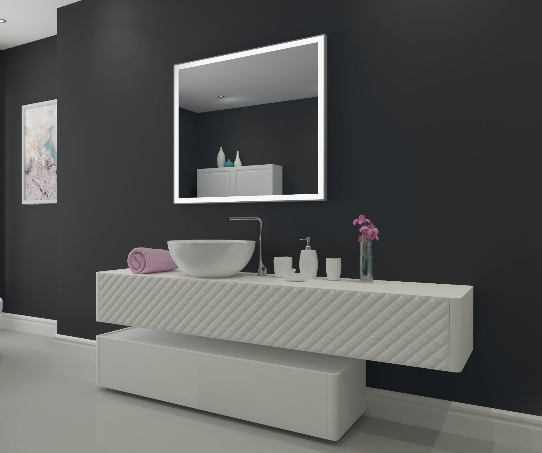 Dimmable Lighted bathroom mirror Galaxy 40 x 36
